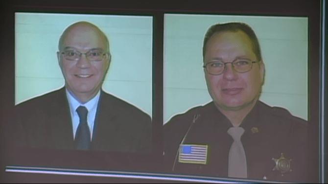 James Lenk y Steven Colborn, policías de Manitowoc.