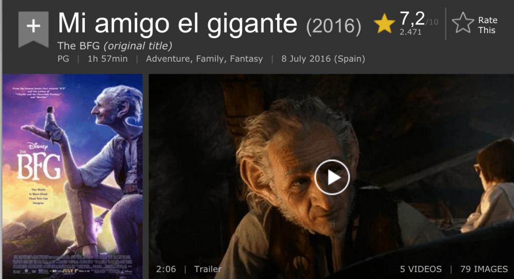 Primeras críticas Mi amigo el gigante (Spielberg)