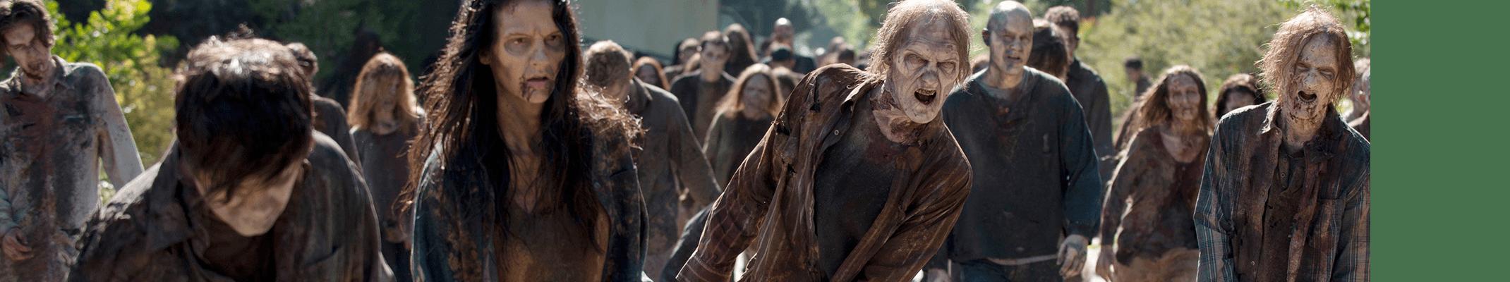 Zombies de esos que te quieren comer la carne y rechupetear los huesos