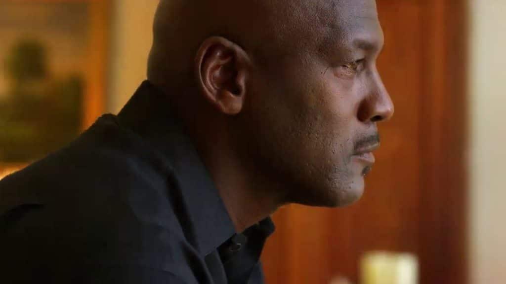 Michael Jordan en una de las imágenes del documental.