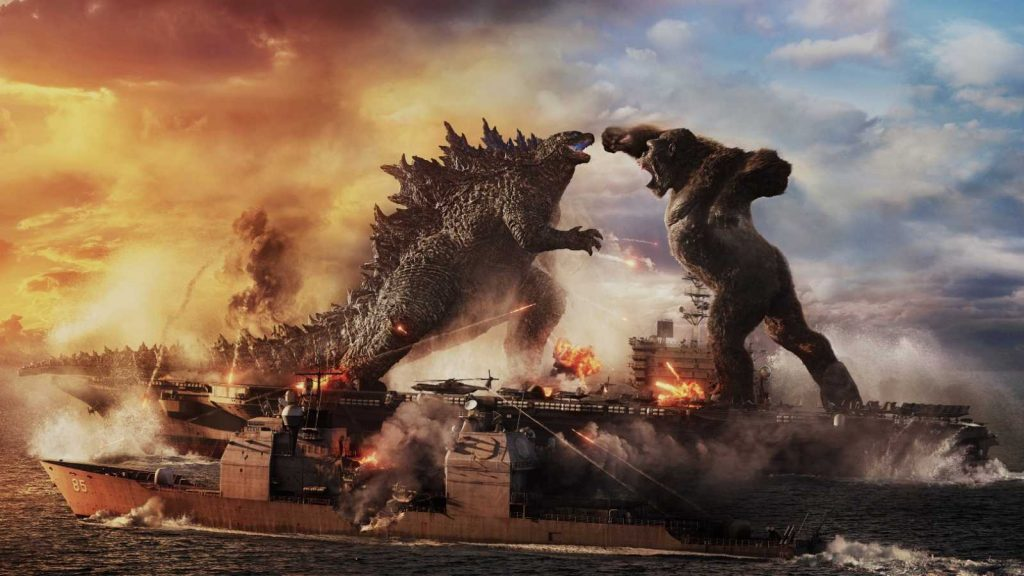 Godzilla y Kong en plena lucha en un fotograma de 'Godzilla vs. Kong' | ©Warner Bros Pictures
